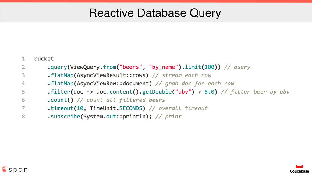 Reactive Database Query