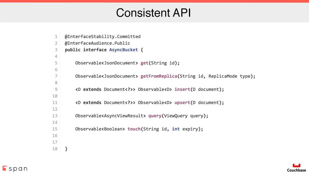 Consistent API