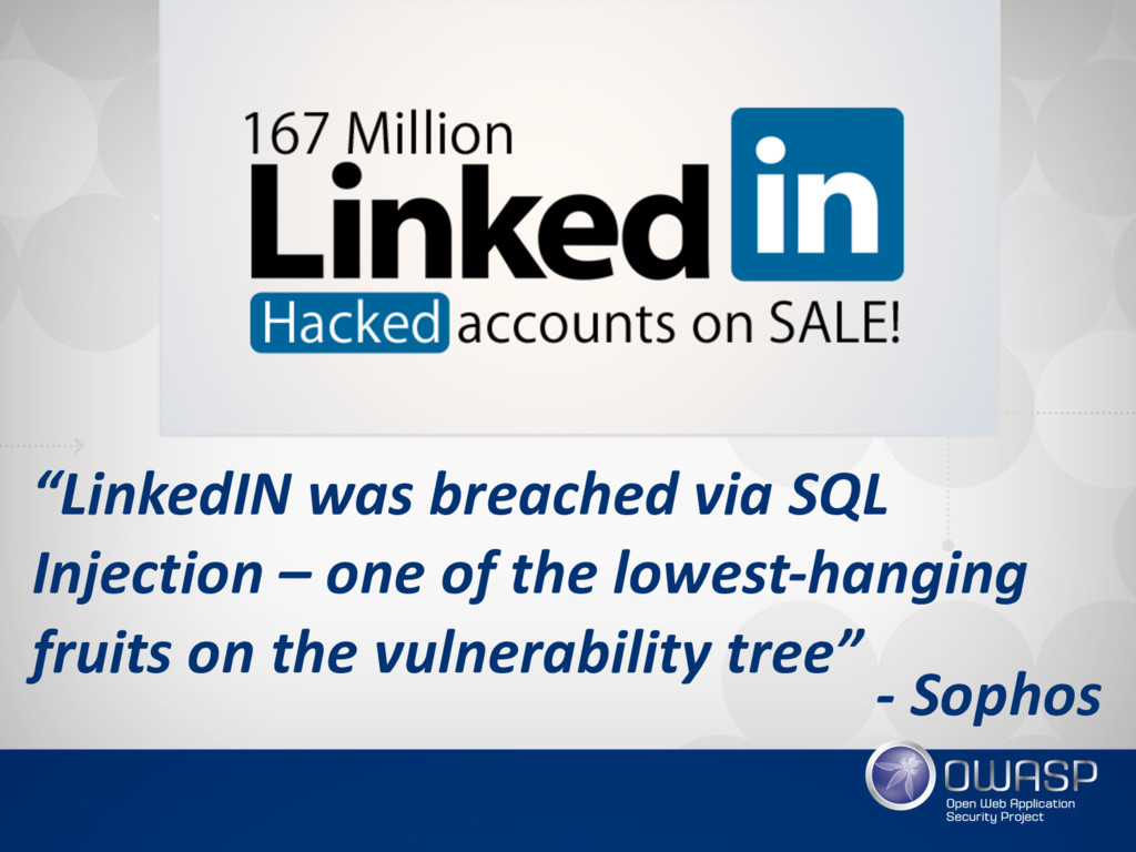 """""""LinkedIN was breached via SQL Injection – one ..."""