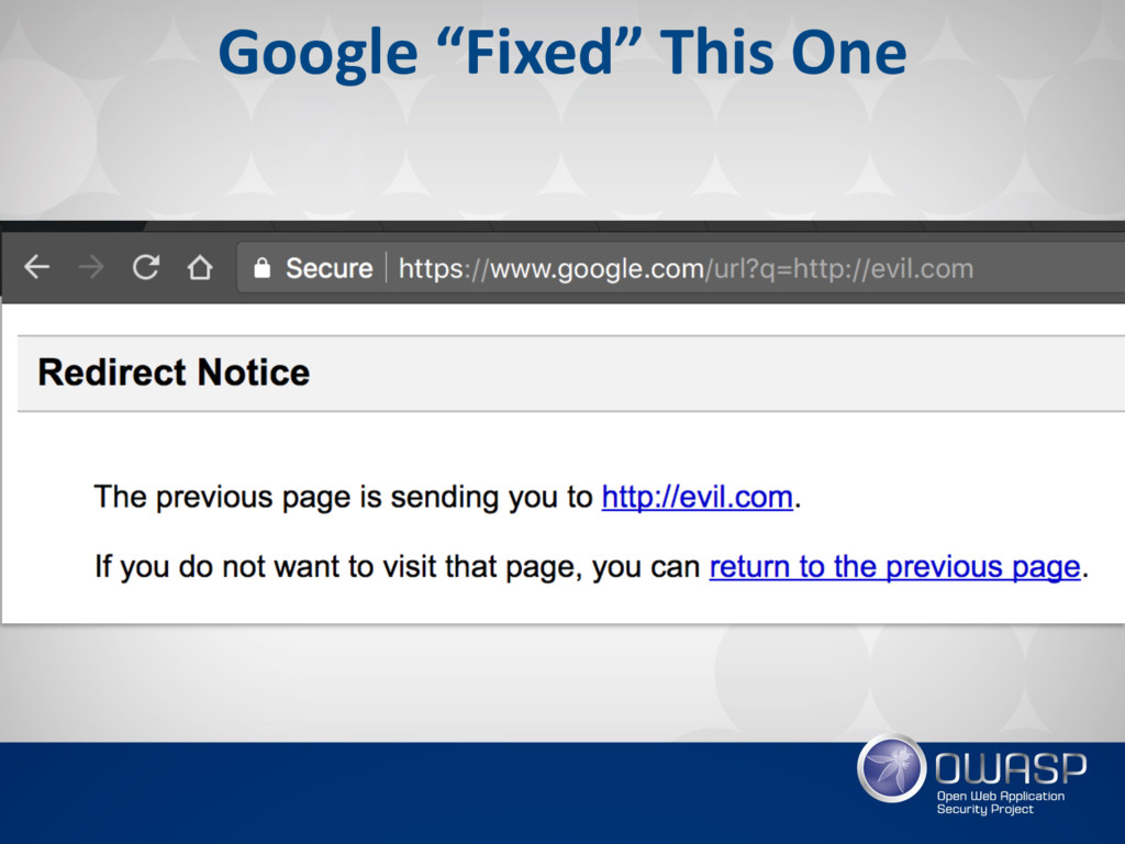 """Google """"Fixed"""" This One"""