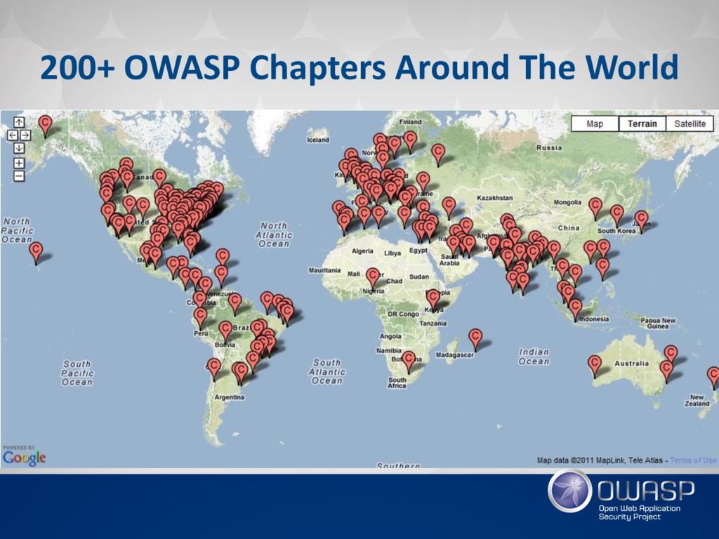200+ OWASP Chapters Around The World