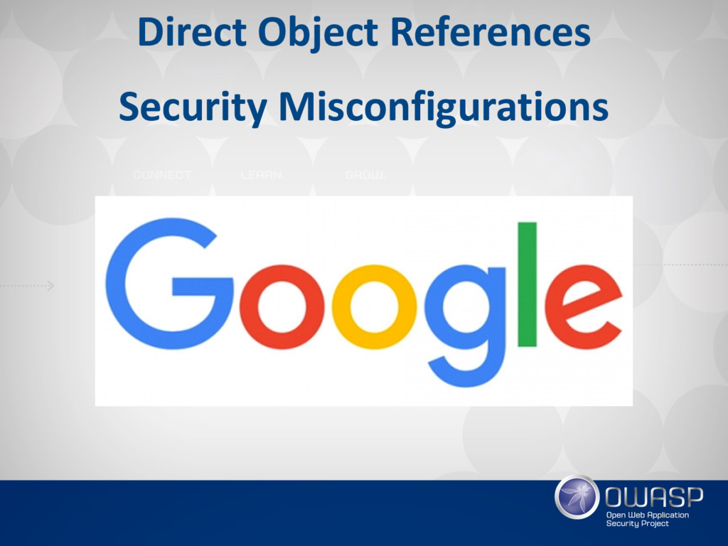 Direct Object References Security Misconfigurat...