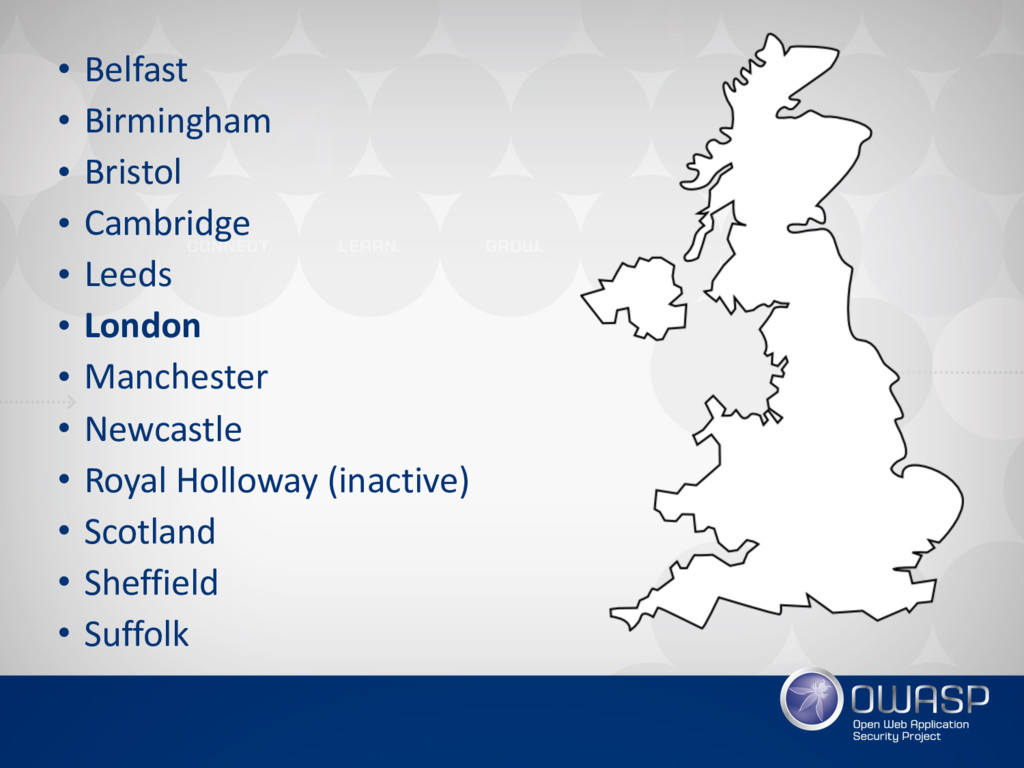 • Belfast • Birmingham • Bristol • Cambridge • ...