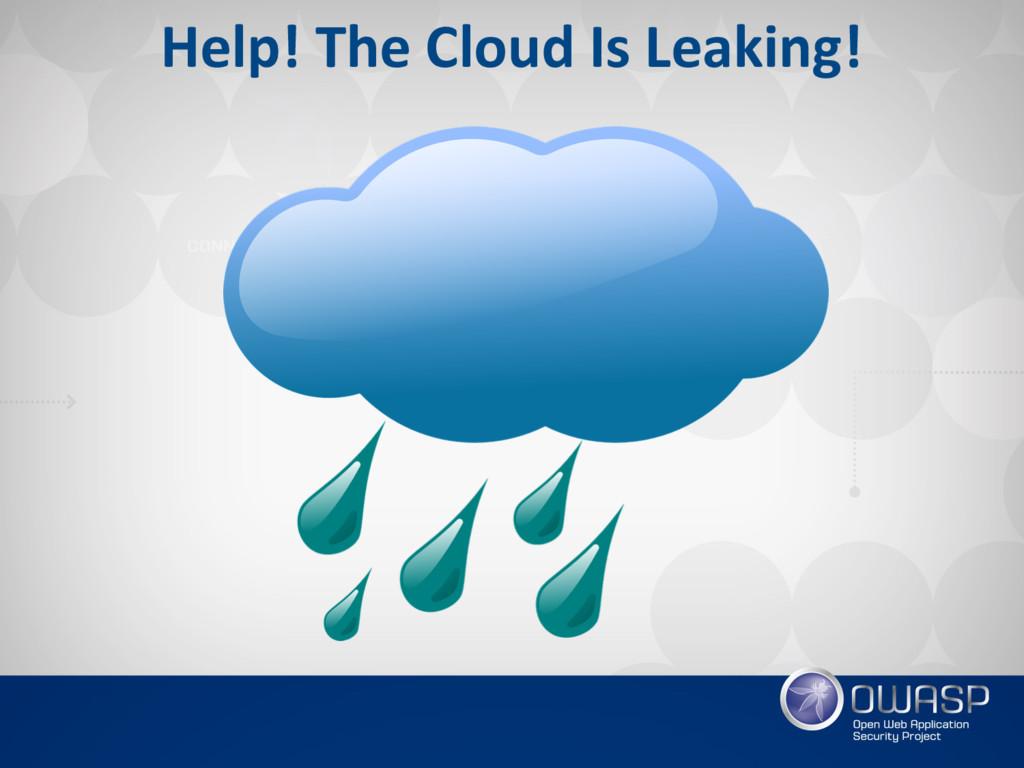 Help! The Cloud Is Leaking!