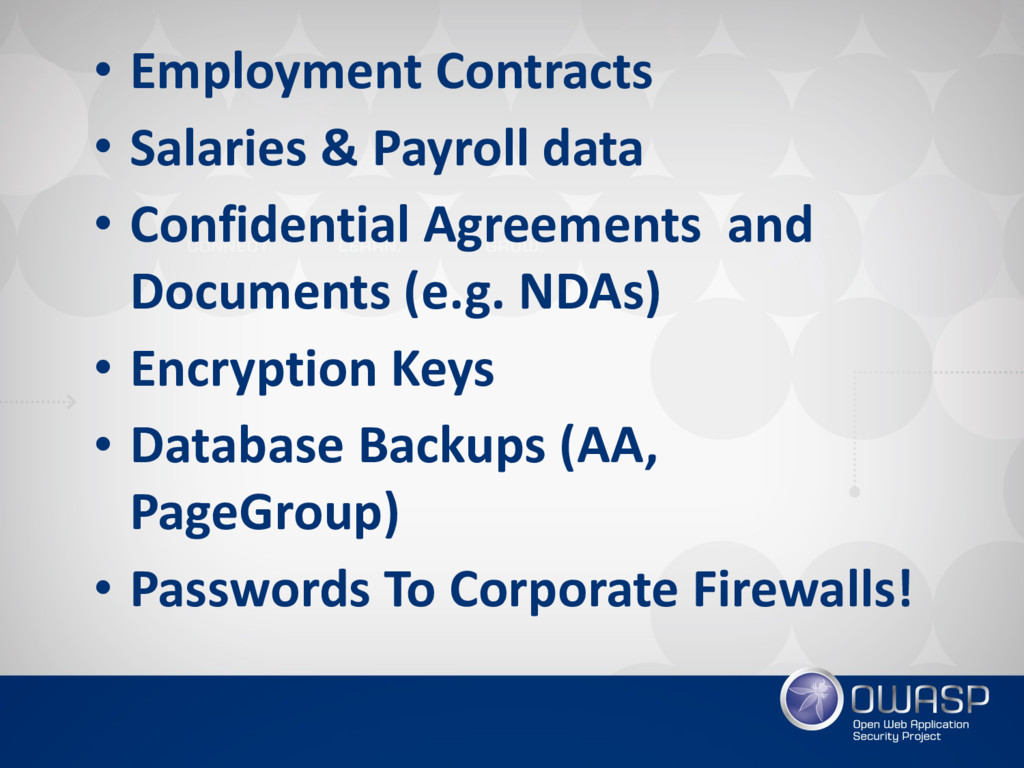 • Employment Contracts • Salaries & Payroll dat...