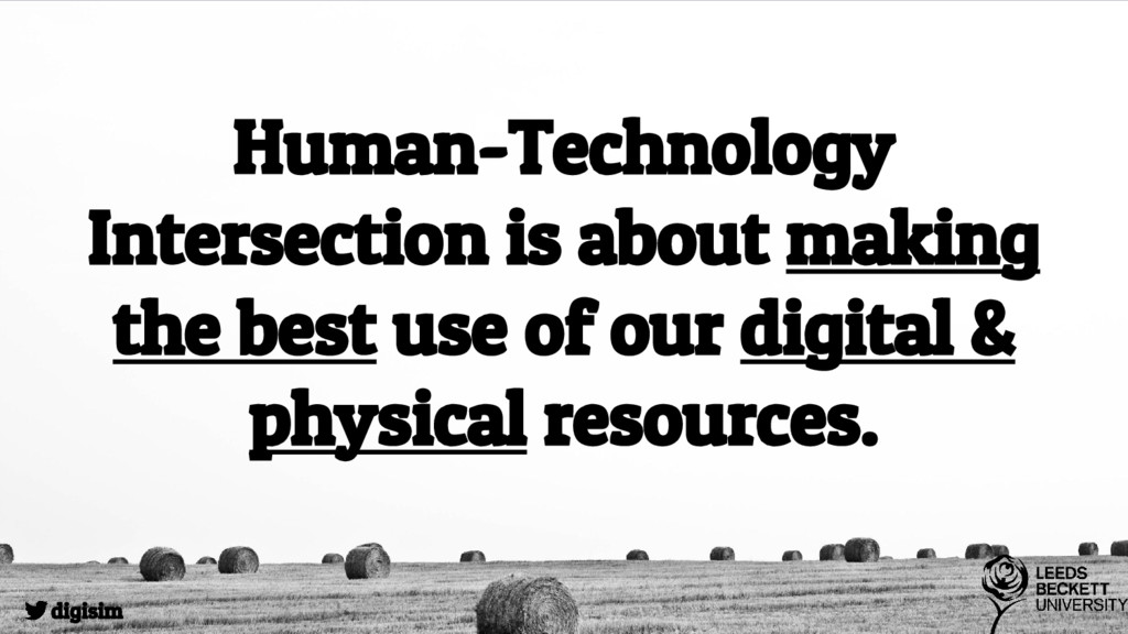 Human-Technology Intersection is about making t...