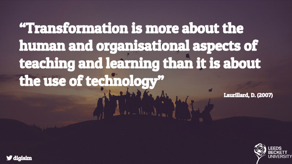 """""""Transformation is more about the human and org..."""