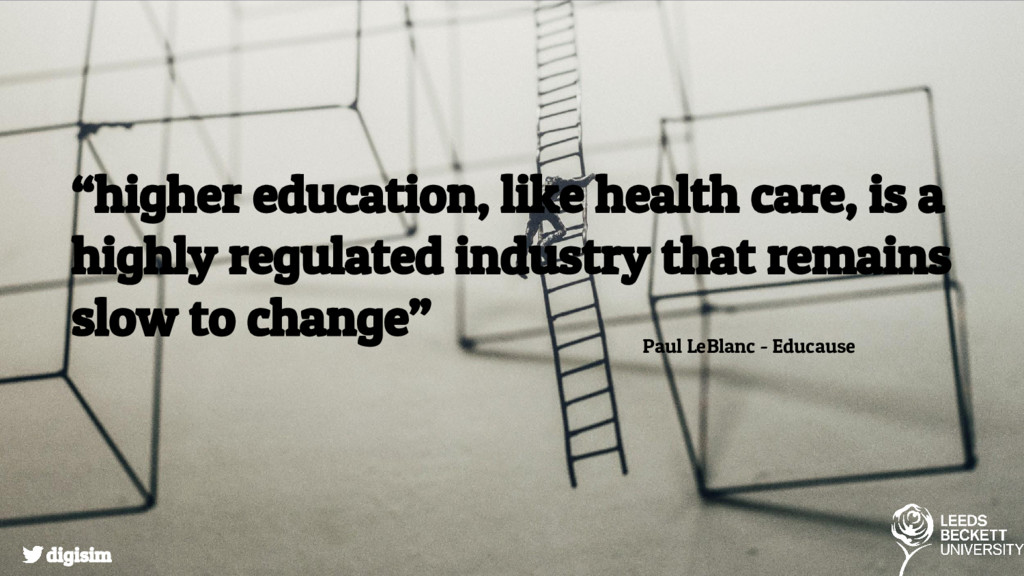 """""""higher education, like health care, is a highl..."""