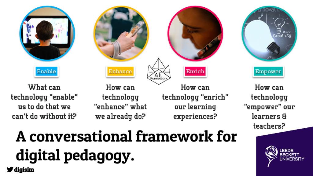 A conversational framework for digital pedagogy...
