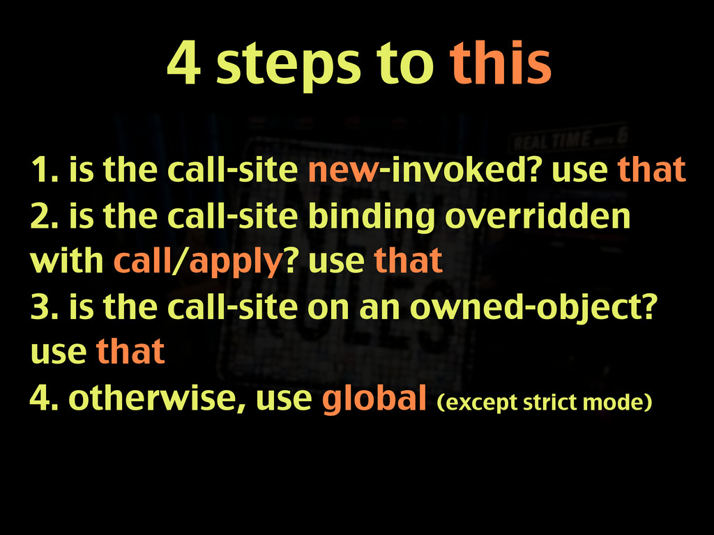 4 steps to this 1. is the call-site new-invoked...