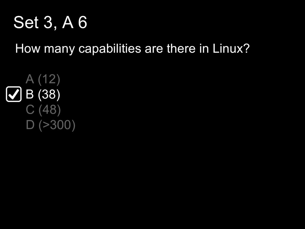 Set 3, A 6 How many capabilities are there in L...