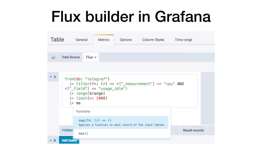 Flux builder in Grafana