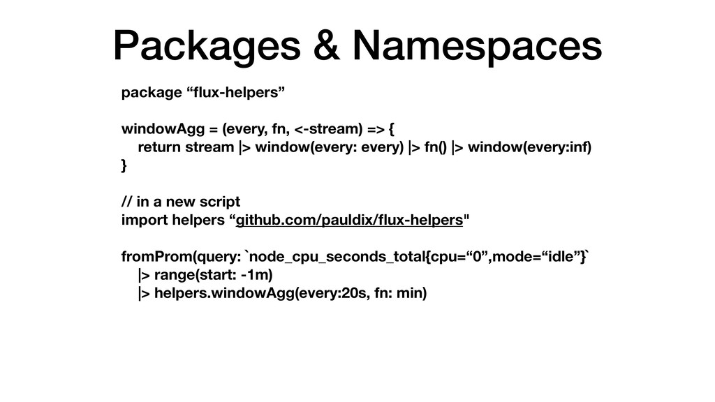 "Packages & Namespaces package ""flux-helpers"" win..."