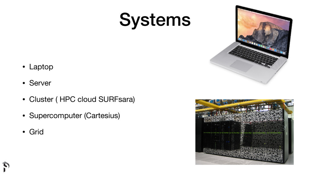Systems • Laptop  • Server  • Cluster ( HPC clo...