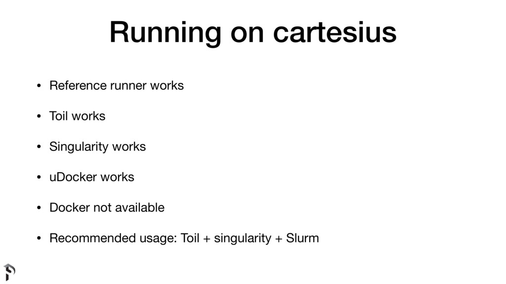 Running on cartesius • Reference runner works  ...