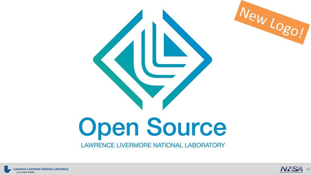 14 LLNL-PRES-796969 New Logo!