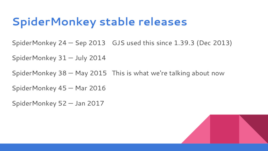 SpiderMonkey stable releases SpiderMonkey 24 — ...