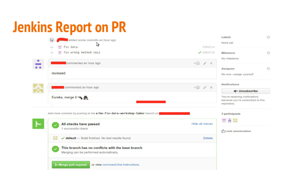 Jenkins Report on PR