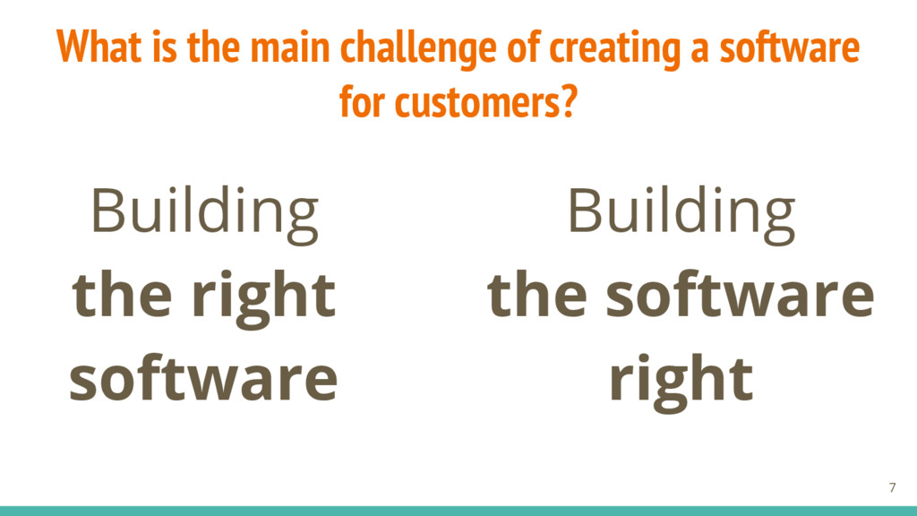 Building the right software Building the softwa...
