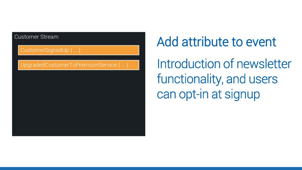 Add attribute to event Customer Stream Customer...