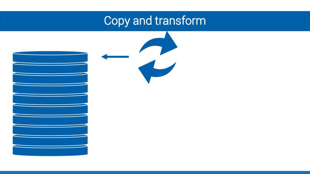 Copy and transform