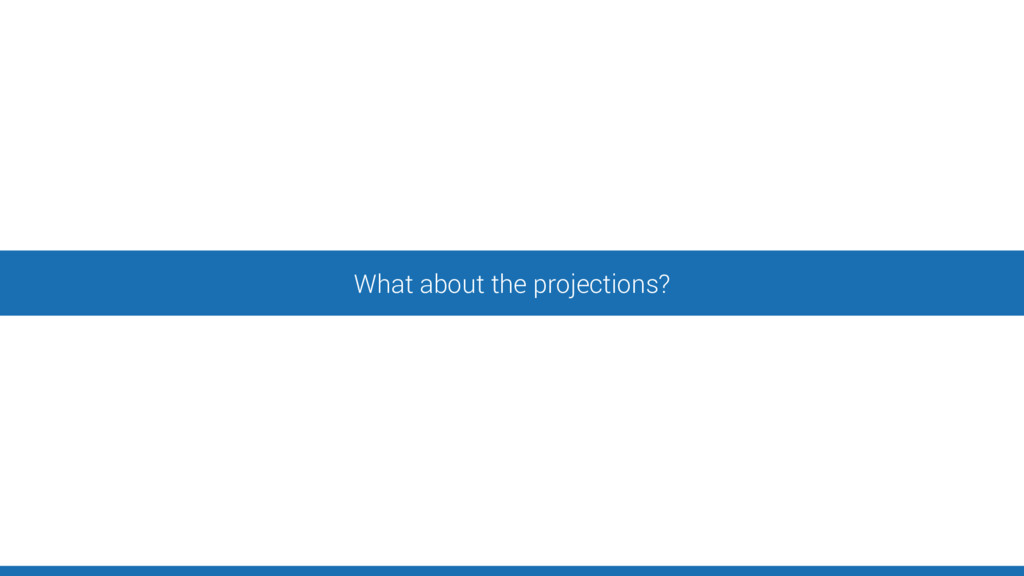 What about the projections?