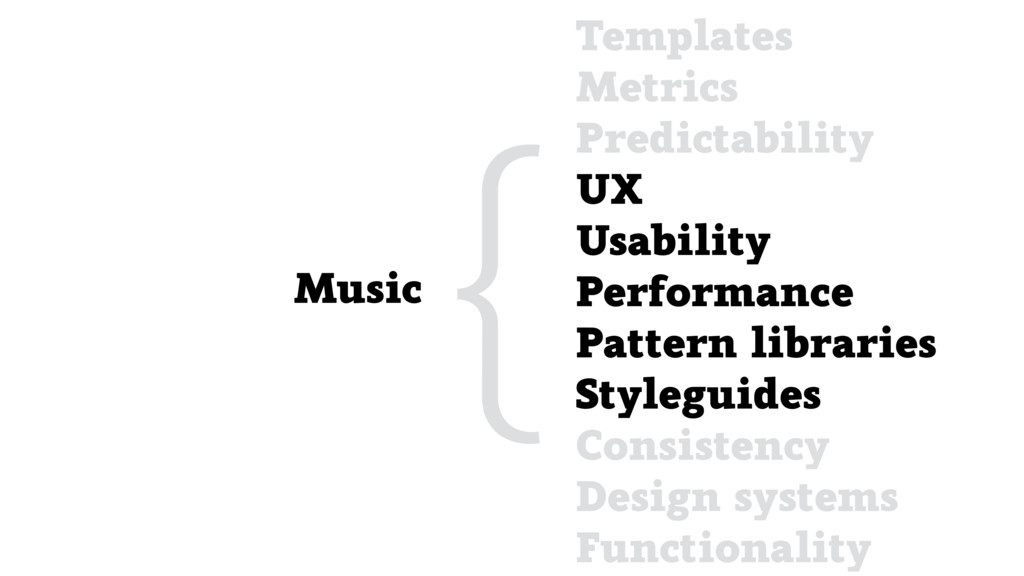 Music {Templates Metrics Predictability UX Usab...