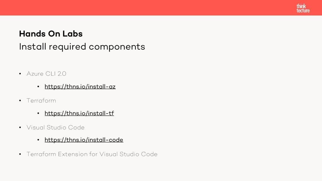 Install required components • Azure CLI 2.0 • h...