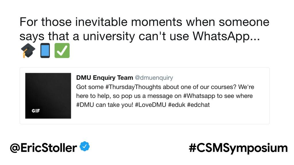 @EricStoller #CSMSymposium