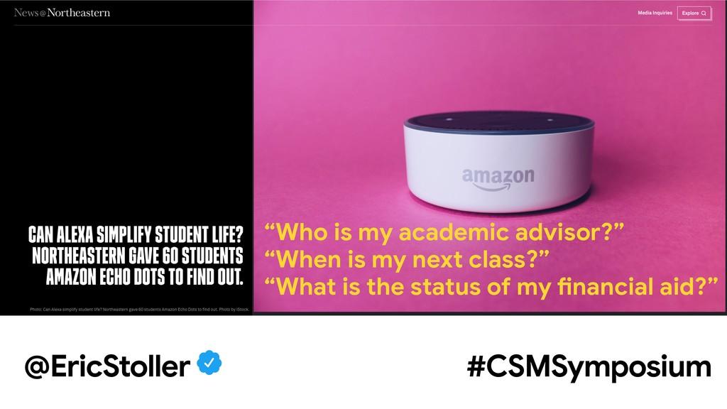 """@EricStoller #CSMSymposium """"Who is my academic ..."""