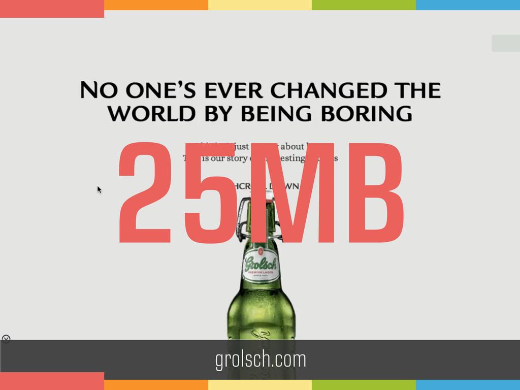 grolsch.com 25MB