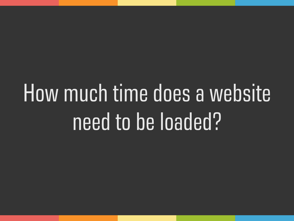 How much time does a website 