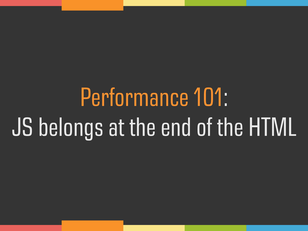 Performance 101: