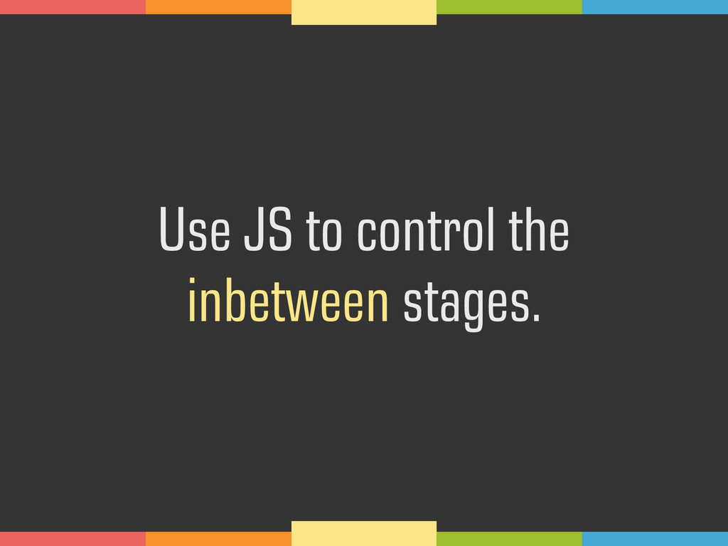 Use JS to control the 