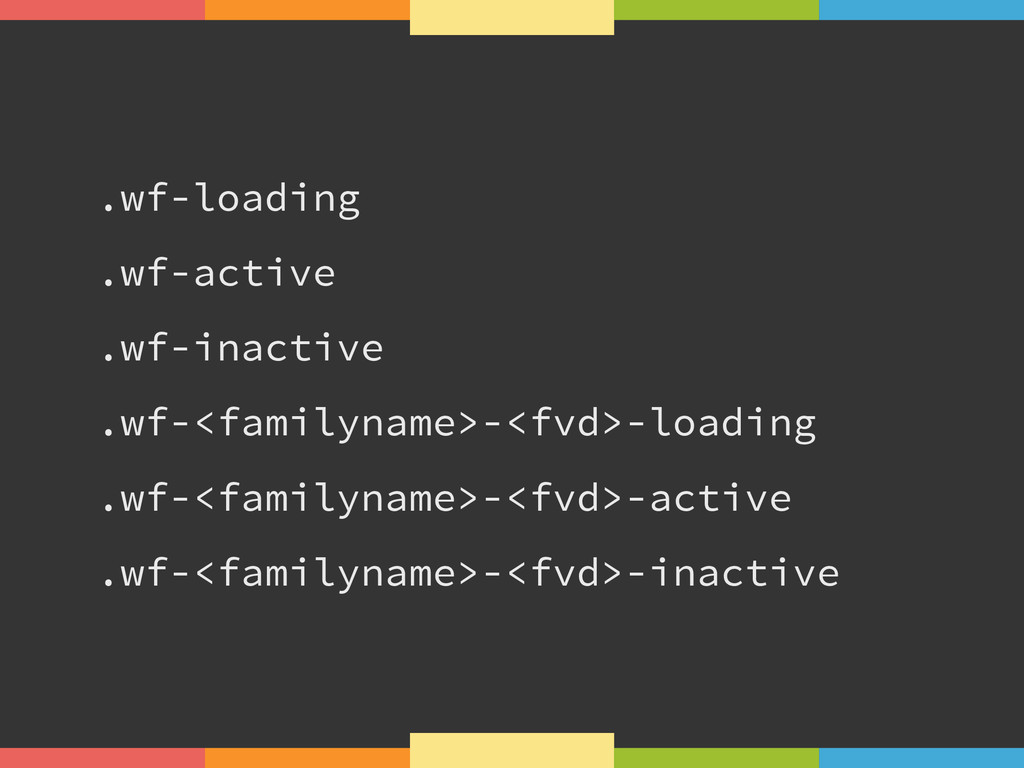.wf-loading .wf-active .wf-inactive .wf-<family...