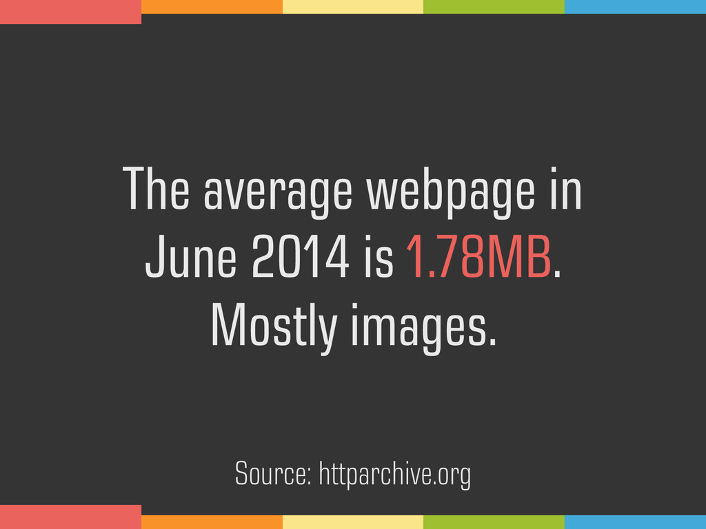 The average webpage in 