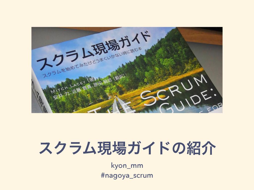 εΫϥϜݱΨΠυͷհ kyon_mm #nagoya_scrum