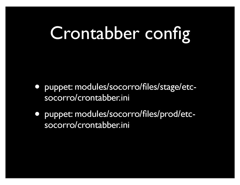 Crontabber config • puppet: modules/socorro/files...