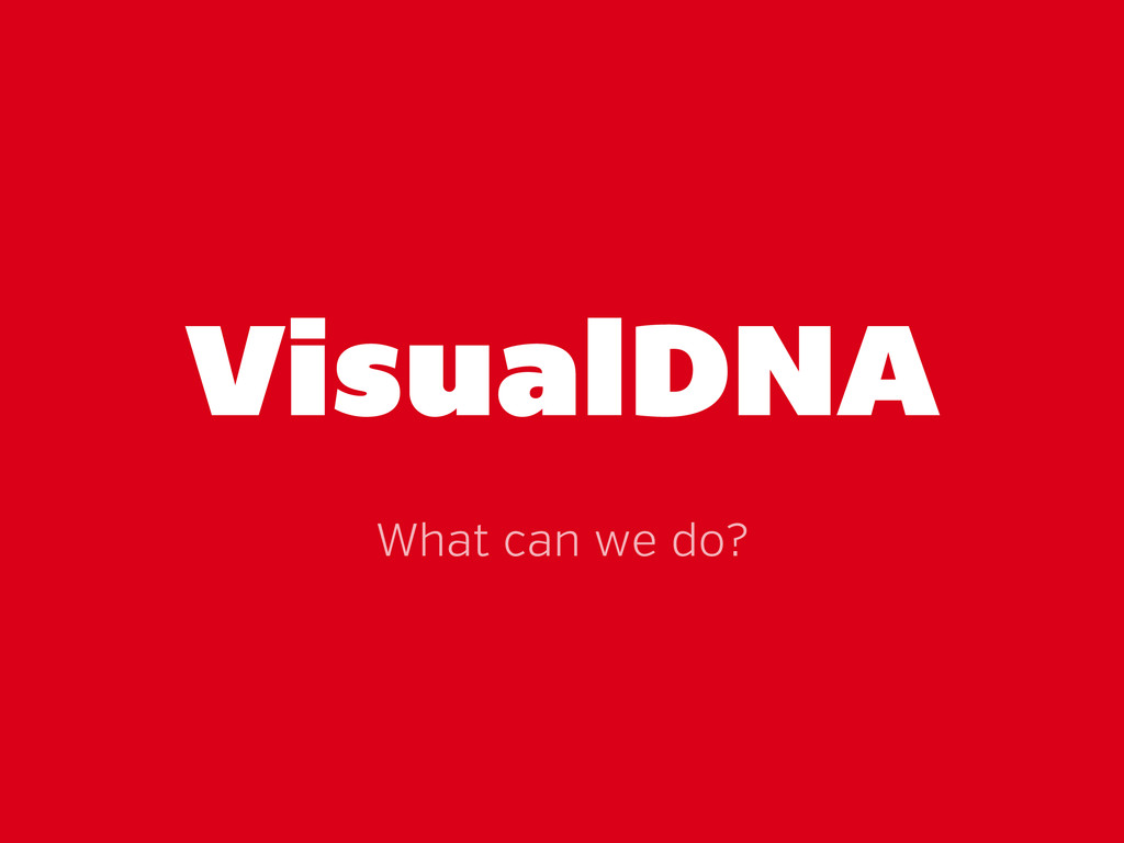 VisualDNA What can we do?