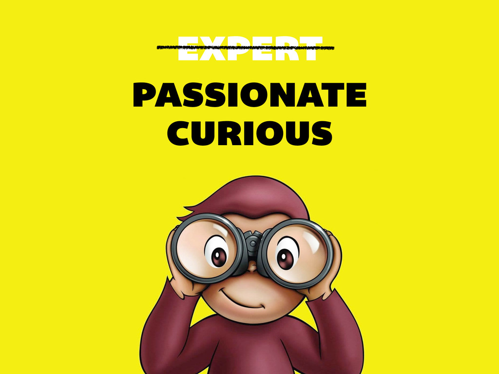 EXPERT PASSIONATE CURIOUS