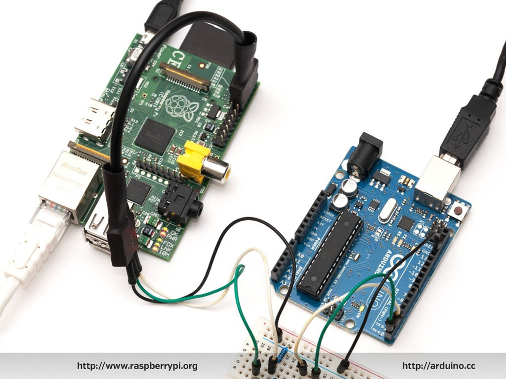 http://www.raspberrypi.org http://arduino.cc