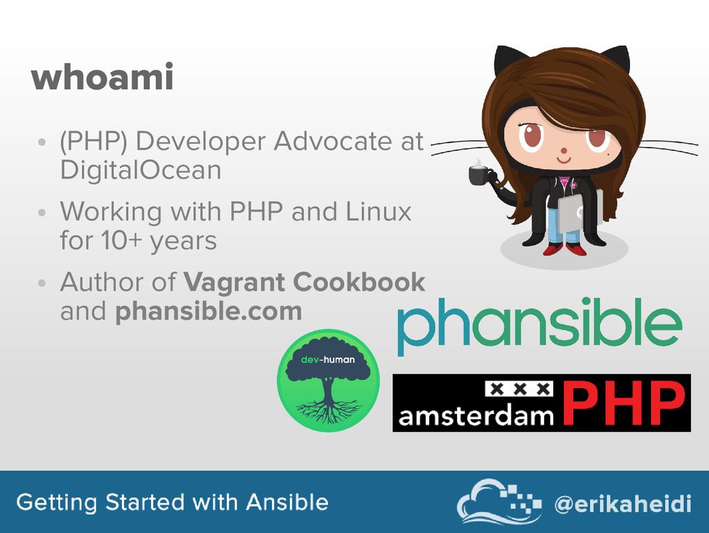 whoami ● (PHP) Developer Advocate at DigitalOce...