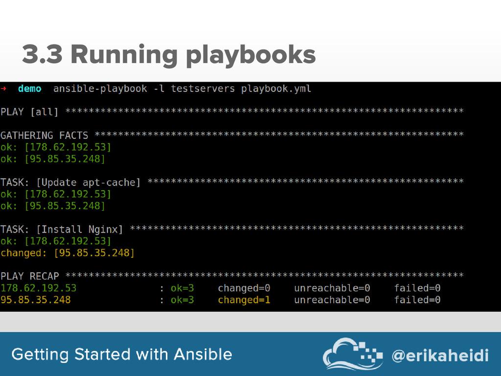 3.3 Running playbooks