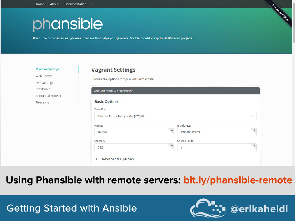 Using Phansible with remote servers: bit.ly/pha...