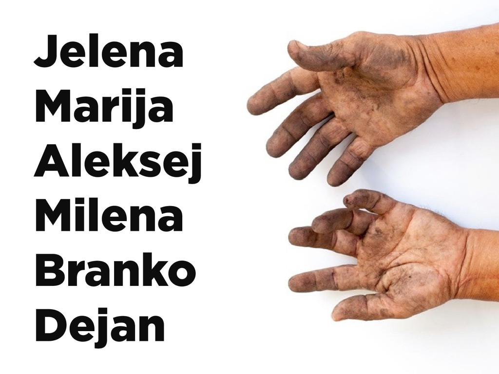 Jelena Marija Aleksej Milena Branko Dejan