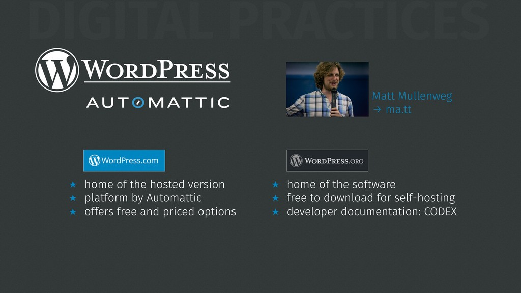DIGITAL PRACTICES ̣ home of the hosted version ...