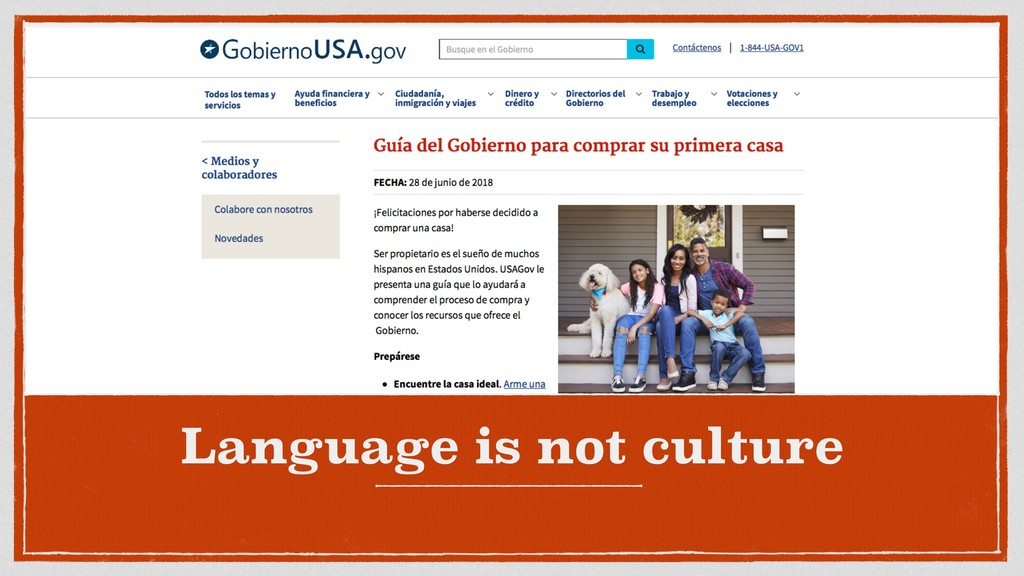 Language is not culture