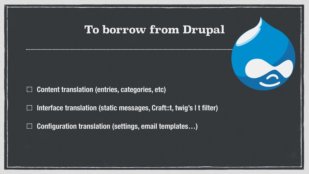 To borrow from Drupal Content translation (entr...