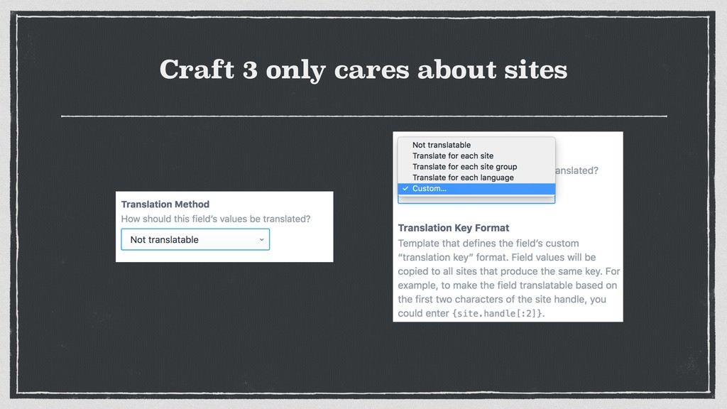 Craft 3 only cares about sites
