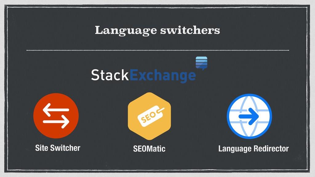 Language switchers Site Switcher SEOMatic Langu...